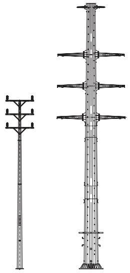 Опоры линий электропередач ОГКЛЭП