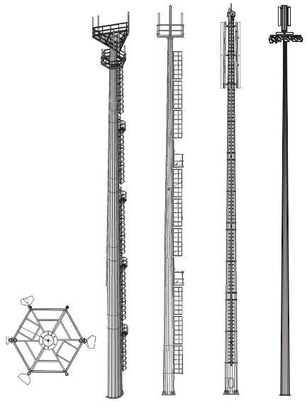 Радиомачты, опоры сотовoй связи РМГ