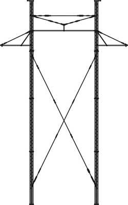 Многогранная опора ЛЭП для ВЛ-500кВ