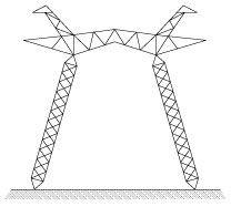 Решетчатая опора ЛЭП для ВЛ 750кВ