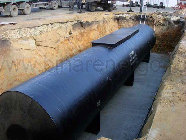 Резервуар стальной подземный