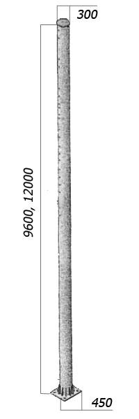 Стойки металлические жестких поперечин МЛП