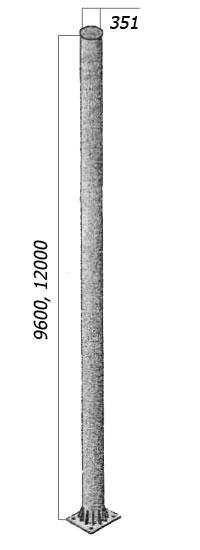 Стойки металлические жестких поперечин многогранного сечения МТП